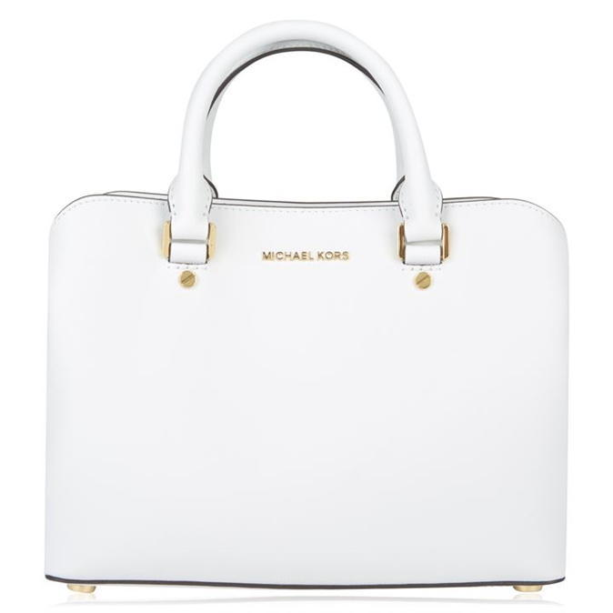 Savannah Tote Bag - predominant colour: white; occasions: casual, creative work; type of pattern: standard; style: tote; length: handle; size: standard; material: leather; pattern: plain; finish: plain; wardrobe: investment; season: a/w 2016