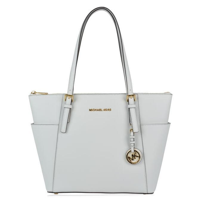 Jet Set Large Tote - predominant colour: light grey; occasions: casual, work, creative work; type of pattern: standard; style: tote; length: shoulder (tucks under arm); size: oversized; material: leather; pattern: plain; finish: plain; season: a/w 2016