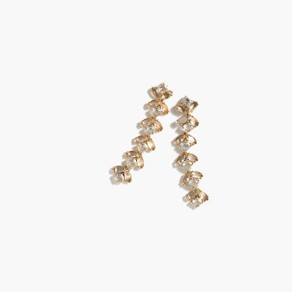Firefly Earrings - predominant colour: gold; occasions: evening, occasion; style: drop; length: mid; size: standard; material: chain/metal; fastening: pierced; finish: metallic; embellishment: crystals/glass; season: a/w 2016; wardrobe: event