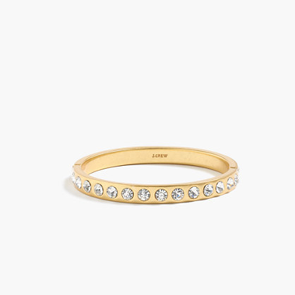 Crystal Clamp Bracelet - predominant colour: gold; occasions: evening, occasion; style: bangle/standard; size: standard; material: chain/metal; finish: metallic; embellishment: crystals/glass; secondary colour: clear; season: a/w 2016; wardrobe: event