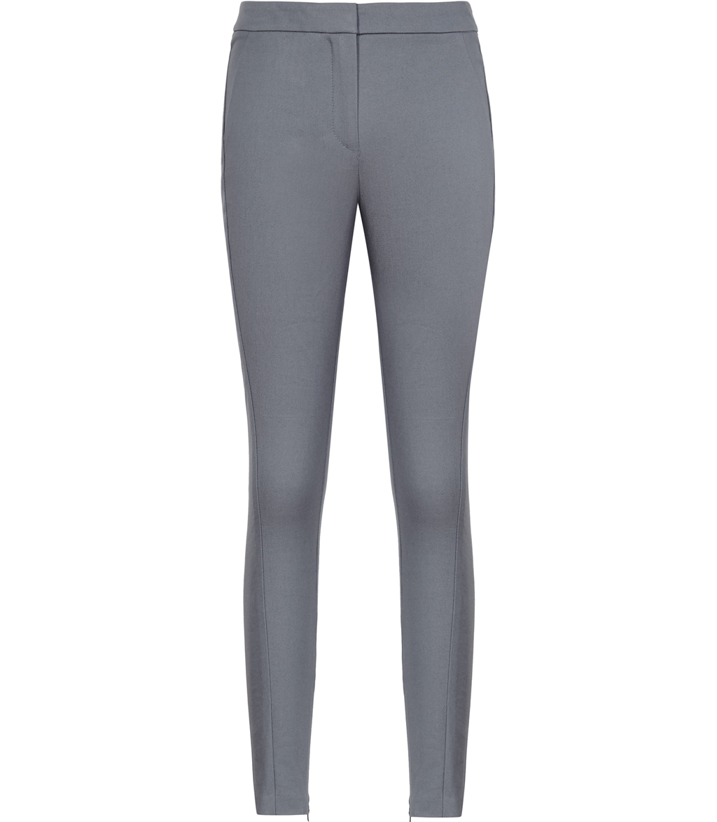 Darla Womens Skinny Tailored Trousers In Grey - length: standard; pattern: plain; waist: mid/regular rise; predominant colour: light grey; occasions: casual, creative work; fibres: cotton - stretch; fit: skinny/tight leg; pattern type: fabric; texture group: woven light midweight; style: standard; pattern size: standard (bottom); wardrobe: basic; season: a/w 2016
