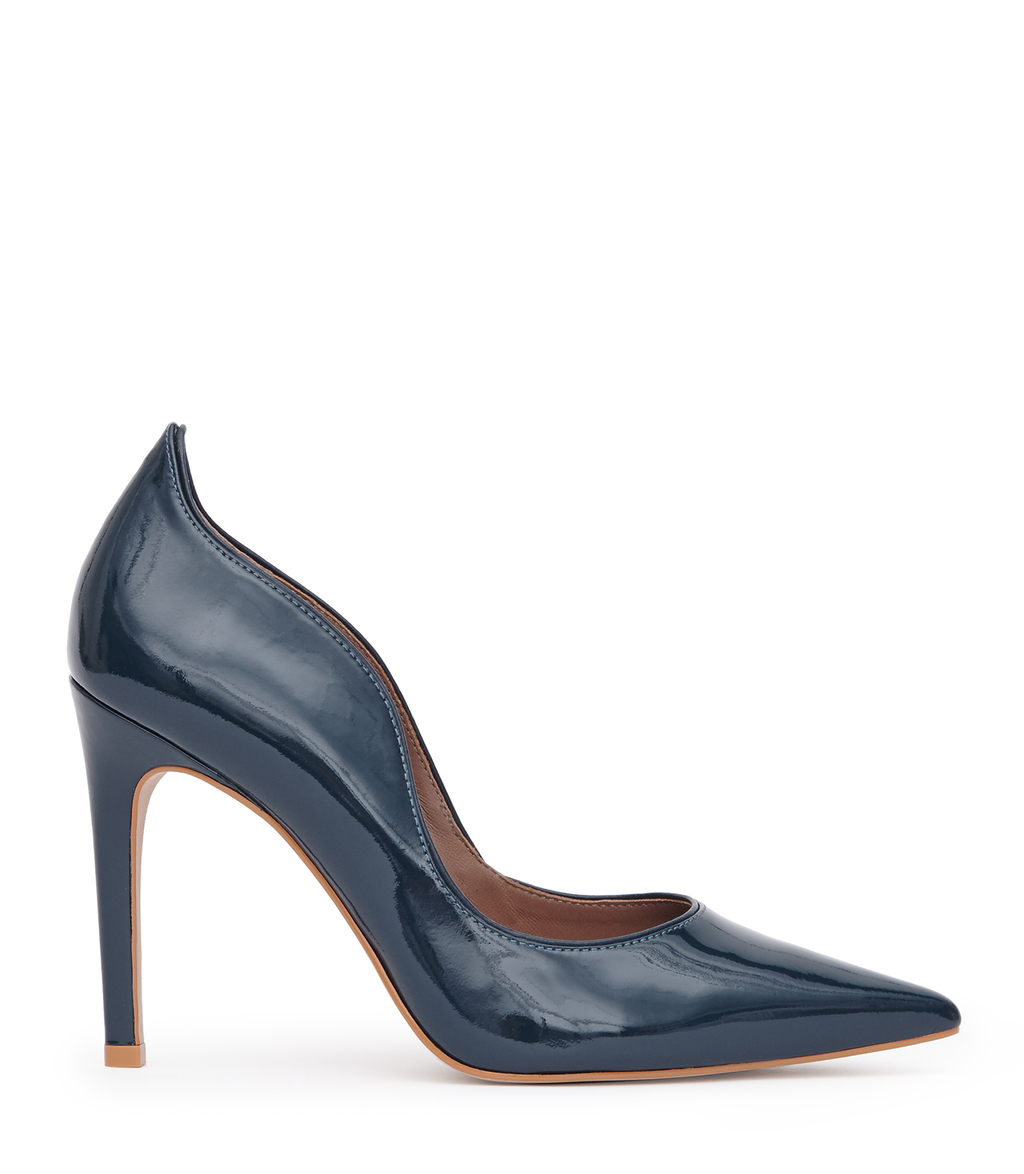 Ness Womens Patent Leather Court Shoes In Green - predominant colour: navy; occasions: evening, work; material: leather; heel height: high; heel: stiletto; toe: pointed toe; style: courts; finish: plain; pattern: plain; wardrobe: investment; season: a/w 2016