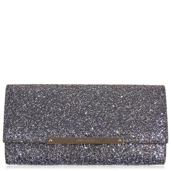 Marilyn Glitter Clutch - predominant colour: mid grey; occasions: evening, occasion; type of pattern: standard; style: clutch; length: hand carry; size: standard; material: fabric; embellishment: glitter; pattern: plain; finish: metallic; season: a/w 2016; wardrobe: event