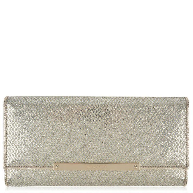 Marilyn Glitter Fabric Clutch Bag - predominant colour: gold; occasions: evening, occasion; type of pattern: standard; style: clutch; length: hand carry; size: standard; material: faux leather; embellishment: glitter; pattern: plain; finish: metallic; season: a/w 2016; wardrobe: event