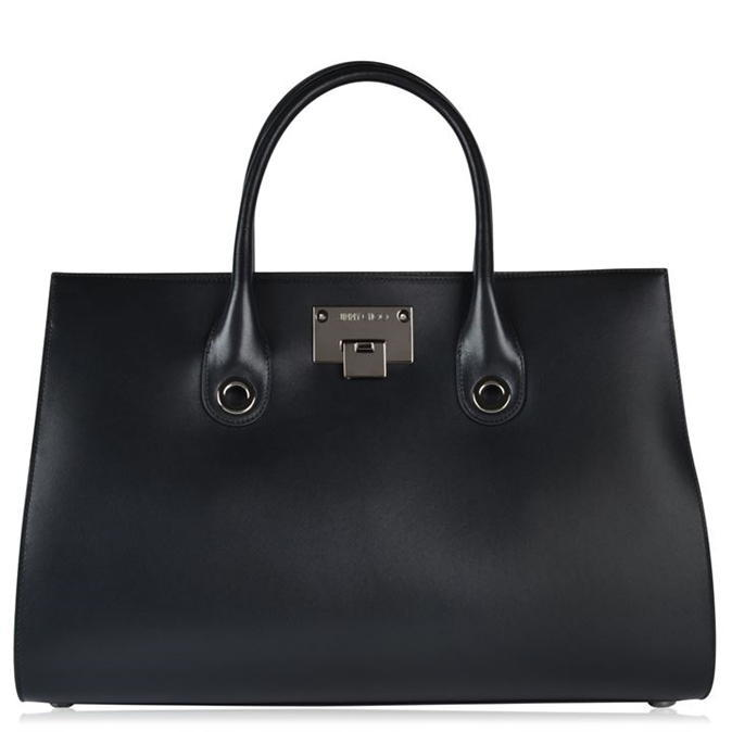 Riley Tote Bag - predominant colour: black; occasions: casual, work, creative work; type of pattern: standard; style: tote; length: handle; size: standard; material: leather; pattern: plain; finish: plain; season: a/w 2016