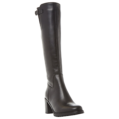 Todd Block Heeled Long Boots - predominant colour: black; occasions: casual, work, creative work; material: leather; heel height: high; heel: block; toe: round toe; boot length: knee; style: standard; finish: plain; pattern: plain; wardrobe: investment; season: a/w 2016