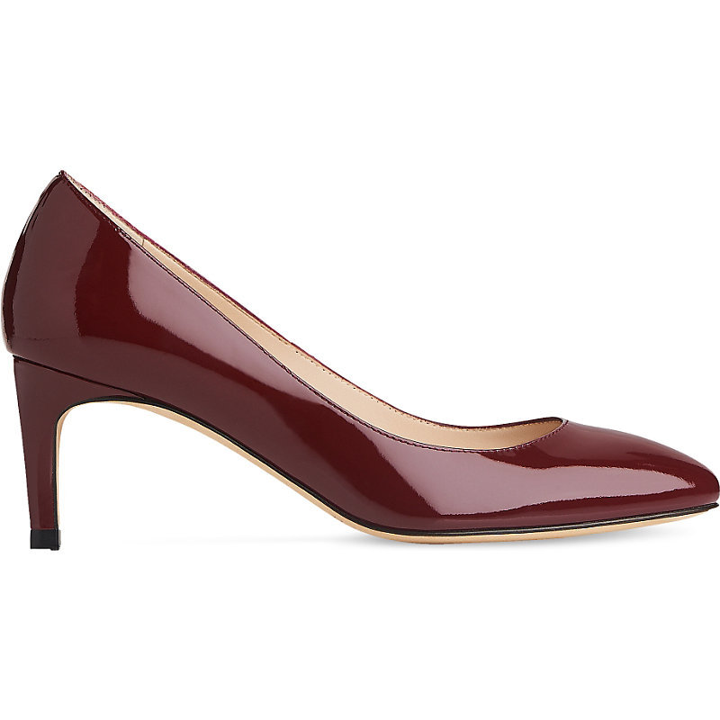Sash Patent Leather Courts, Women's, Eur 37.5 / 4.5 Uk Women, Red Truffle - predominant colour: burgundy; occasions: evening, work; material: leather; heel height: mid; heel: stiletto; toe: pointed toe; style: courts; finish: patent; pattern: plain; season: a/w 2016; wardrobe: highlight