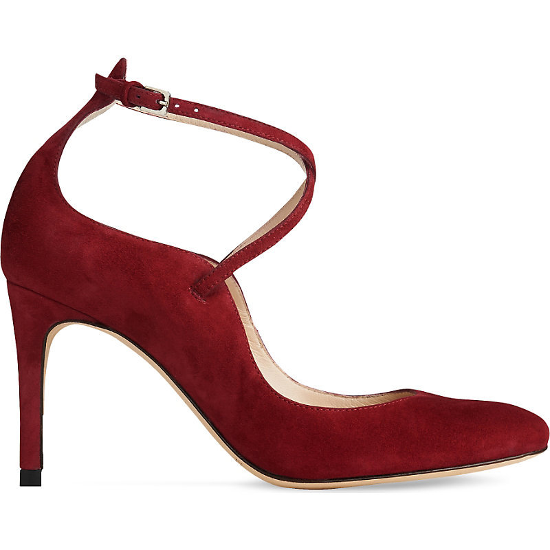 Melinda Criss Cross Suede Courts, Women's, Eur 39 / 6 Uk Women, Pin Raspberry - predominant colour: burgundy; occasions: evening, occasion; material: suede; heel height: high; ankle detail: ankle strap; heel: stiletto; toe: pointed toe; style: courts; finish: plain; pattern: plain; season: a/w 2016