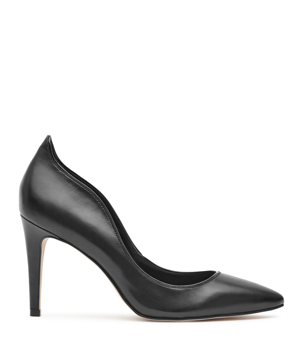 Aggie Womens Point Toe Court Shoes In Black - predominant colour: black; occasions: evening; material: leather; heel height: high; heel: stiletto; toe: pointed toe; style: courts; finish: plain; pattern: plain; season: a/w 2016; wardrobe: event