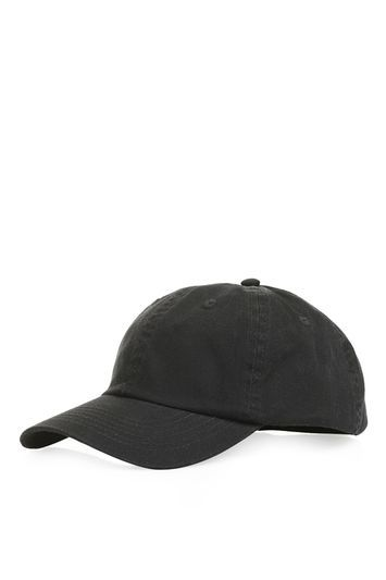 Unstructured Cap - predominant colour: black; occasions: casual; type of pattern: standard; style: cap; size: standard; material: fabric; pattern: plain; season: s/s 2016