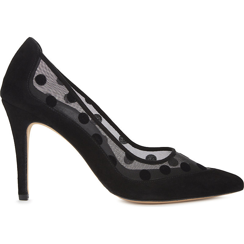 Aube Leather Courts, Women's, Eur 38 / 5 Uk Women, Noir - predominant colour: black; occasions: evening; material: leather; heel height: high; heel: stiletto; toe: pointed toe; style: courts; finish: plain; pattern: polka dot; season: a/w 2016; wardrobe: event