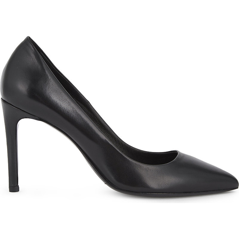 Freya Leather Courts, Women's, Eur 40 / 7 Uk Women, Black - predominant colour: black; occasions: evening; material: leather; heel: stiletto; toe: pointed toe; style: courts; finish: plain; pattern: plain; heel height: very high; season: a/w 2016; wardrobe: event