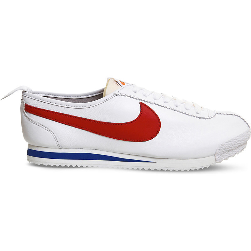 Cortez '72 Leather Trainers, Women's, White Red Game Royal - predominant colour: white; occasions: casual, activity; material: leather; heel height: flat; toe: round toe; style: trainers; finish: plain; pattern: plain; season: a/w 2016