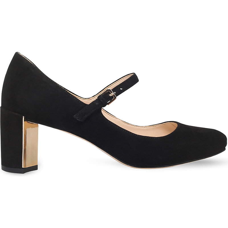 Fadilla Suede Courts, Women's, Eur 41 / 8 Uk Women, Black - predominant colour: black; occasions: evening; material: suede; heel height: high; heel: block; toe: round toe; style: mary janes; finish: plain; pattern: plain; season: a/w 2016; wardrobe: event