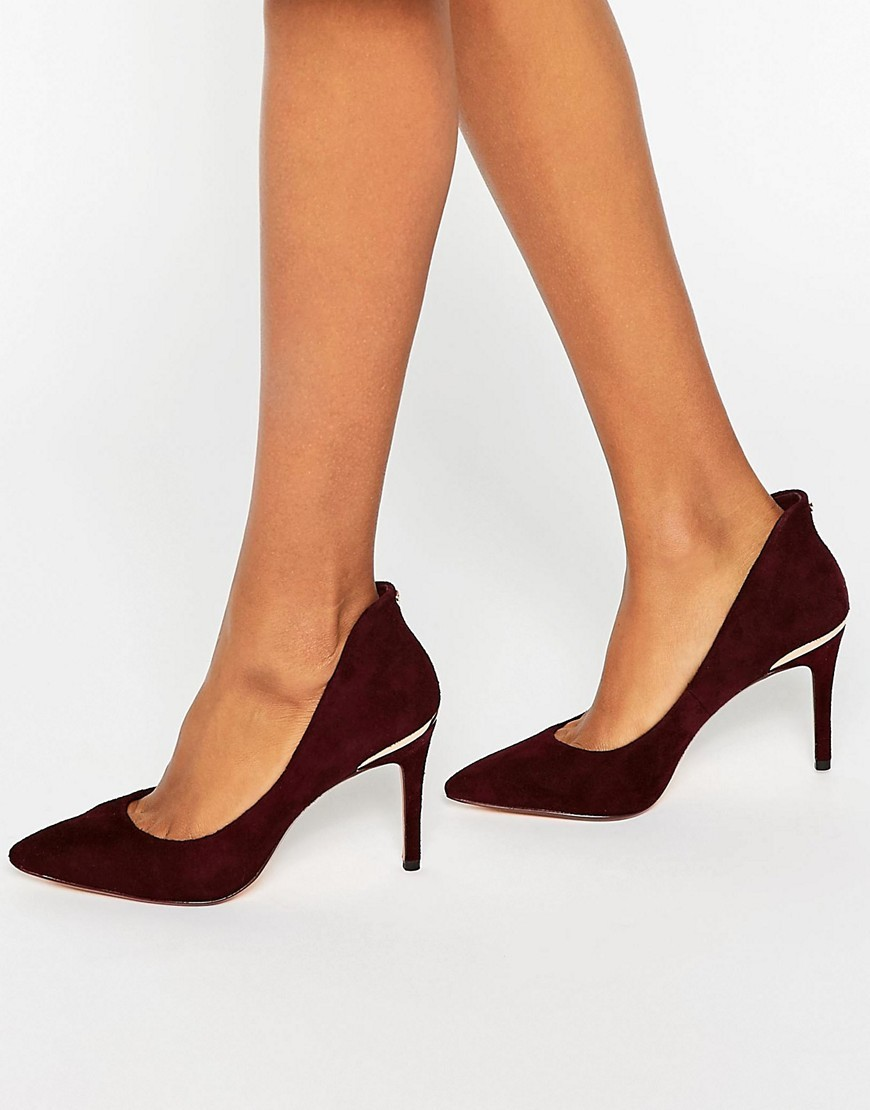 Saviy Suede Court Shoes Burgundy Suede - predominant colour: burgundy; occasions: evening, occasion, creative work; material: suede; heel height: high; heel: stiletto; toe: pointed toe; style: courts; finish: plain; pattern: plain; season: a/w 2016; wardrobe: highlight