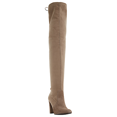 Sibyl Block Heeled Over The Knee Boots - predominant colour: camel; occasions: casual, creative work; material: leather; heel height: high; heel: block; toe: round toe; boot length: over the knee; style: standard; finish: plain; pattern: plain; season: s/s 2016; wardrobe: investment