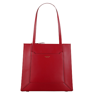 Hardwick Leather Large Tote Bag - predominant colour: true red; occasions: casual, work, creative work; type of pattern: standard; style: tote; length: handle; size: standard; material: leather; pattern: plain; finish: plain; season: s/s 2016; wardrobe: highlight