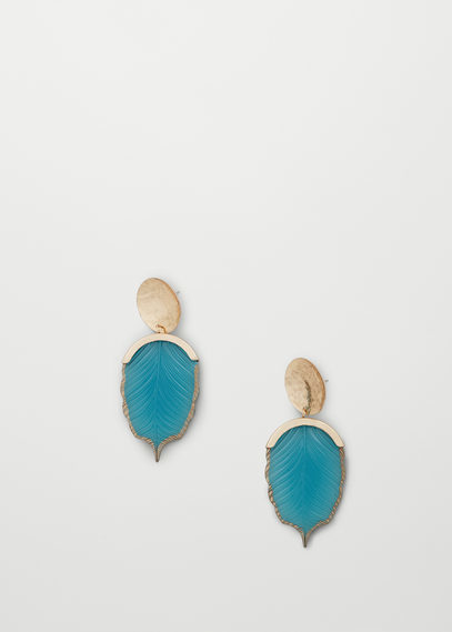 Mixed Pieces Earrings - predominant colour: turquoise; occasions: evening, occasion; style: stud; length: short; size: small/fine; material: chain/metal; fastening: pierced; finish: plain; embellishment: jewels/stone; season: a/w 2016; wardrobe: event