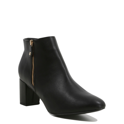 Soft Sole Heeled Ankle Boots Black - predominant colour: black; occasions: casual; material: faux leather; heel height: mid; heel: block; toe: pointed toe; boot length: ankle boot; style: standard; finish: plain; pattern: plain; wardrobe: basic; season: a/w 2016