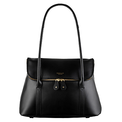 Taplow Large Leather Shoulder Bag - predominant colour: black; occasions: work, creative work; type of pattern: standard; style: tote; length: handle; size: oversized; material: leather; pattern: plain; finish: plain; wardrobe: investment; season: a/w 2016