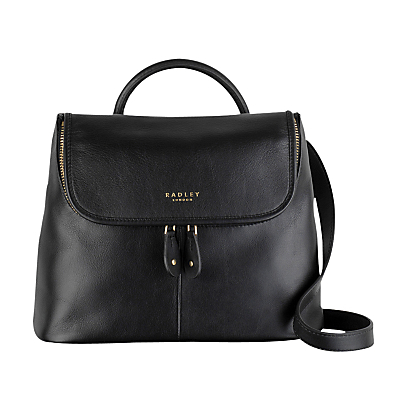 Taplow Small Leather Across Body Bag - predominant colour: black; occasions: casual, work, creative work; type of pattern: standard; style: shoulder; length: across body/long; size: small; material: leather; pattern: plain; finish: plain; wardrobe: investment; season: a/w 2016