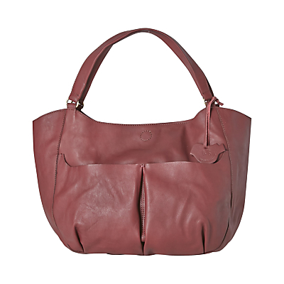 Geneva Hobo Bag - predominant colour: burgundy; occasions: casual, work, creative work; type of pattern: standard; style: tote; length: handle; size: standard; material: leather; pattern: plain; finish: plain; season: a/w 2016