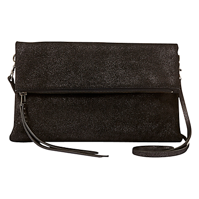 Evie Simple Zip Clutch - predominant colour: black; occasions: evening; type of pattern: standard; style: clutch; length: hand carry; size: standard; material: leather; pattern: plain; finish: plain; season: a/w 2016; wardrobe: event