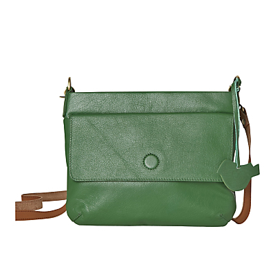 Mini Clover Across Body Bag - predominant colour: mint green; occasions: casual, creative work; type of pattern: standard; style: messenger; length: across body/long; size: small; material: leather; pattern: plain; finish: plain; season: a/w 2016; wardrobe: highlight