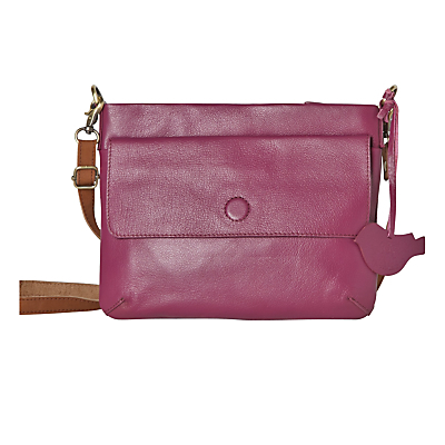 Mini Clover Across Body Bag - predominant colour: hot pink; occasions: casual, creative work; type of pattern: standard; style: messenger; length: across body/long; size: small; material: leather; pattern: plain; finish: plain; season: a/w 2016; wardrobe: highlight