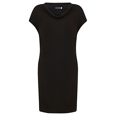 Cowl Neck Slouch Dress, Black - style: shift; neckline: cowl/draped neck; sleeve style: capped; pattern: plain; predominant colour: black; length: just above the knee; fit: body skimming; fibres: viscose/rayon - 100%; sleeve length: short sleeve; pattern type: fabric; texture group: jersey - stretchy/drapey; occasions: creative work; wardrobe: investment; season: a/w 2016