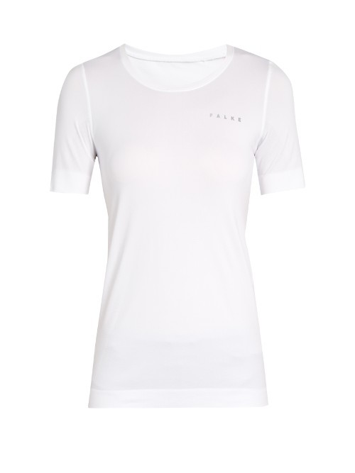 Seamless Performance T Shirt - neckline: round neck; pattern: plain; style: t-shirt; predominant colour: white; occasions: casual; length: standard; fibres: polyester/polyamide - mix; fit: body skimming; sleeve length: short sleeve; sleeve style: standard; pattern type: fabric; texture group: jersey - stretchy/drapey; wardrobe: basic; season: a/w 2016