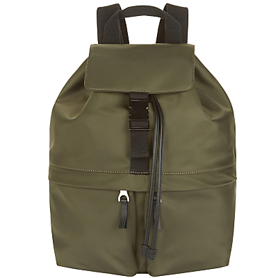 Nylon Hix Rucksack, Olive - predominant colour: khaki; secondary colour: black; occasions: casual, creative work; type of pattern: standard; style: rucksack; length: rucksack; size: standard; material: fabric; finish: plain; pattern: colourblock; season: a/w 2016; wardrobe: highlight