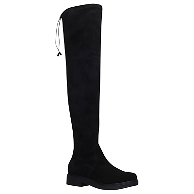 Trooper Over The Knee Boots, Black Suede - predominant colour: black; occasions: casual, creative work; material: suede; heel height: mid; heel: block; toe: round toe; boot length: knee; style: riding; finish: plain; pattern: plain; wardrobe: investment; season: a/w 2016