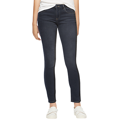 "Richmond 30"" Skinny Jeans, Graphite - style: skinny leg; pattern: plain; waist: low rise; pocket detail: traditional 5 pocket; predominant colour: charcoal; occasions: casual; length: ankle length; fibres: cotton - stretch; texture group: denim; pattern type: fabric; season: a/w 2016; wardrobe: highlight"