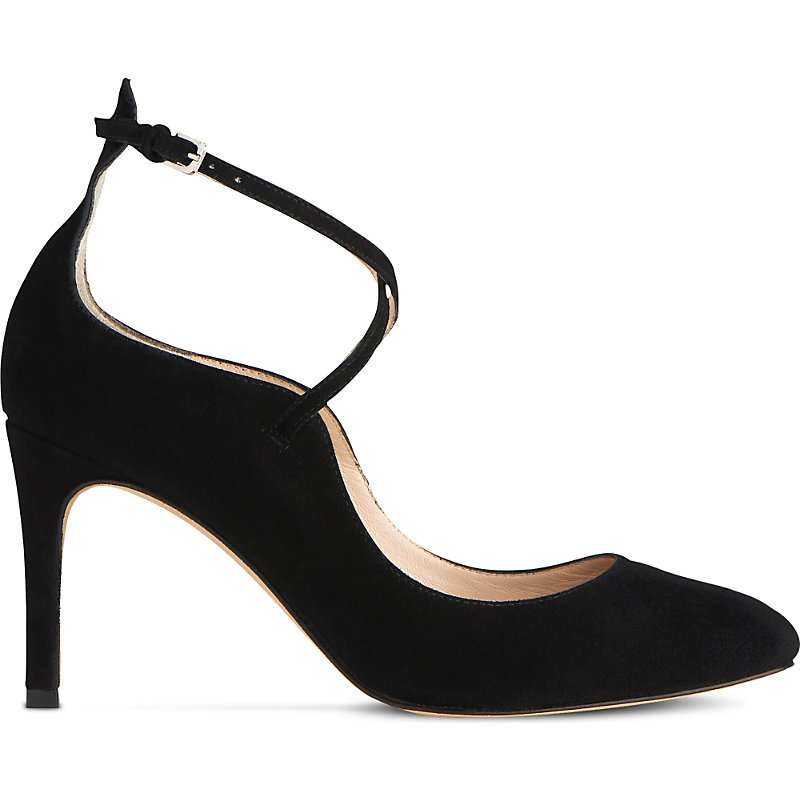 Melinda Criss Cross Suede Courts, Women's, Eur 38 / 5 Uk Women, Bla Black - predominant colour: black; occasions: evening; material: suede; heel height: high; ankle detail: ankle strap; heel: stiletto; toe: pointed toe; style: courts; finish: plain; pattern: plain; season: a/w 2016; wardrobe: event