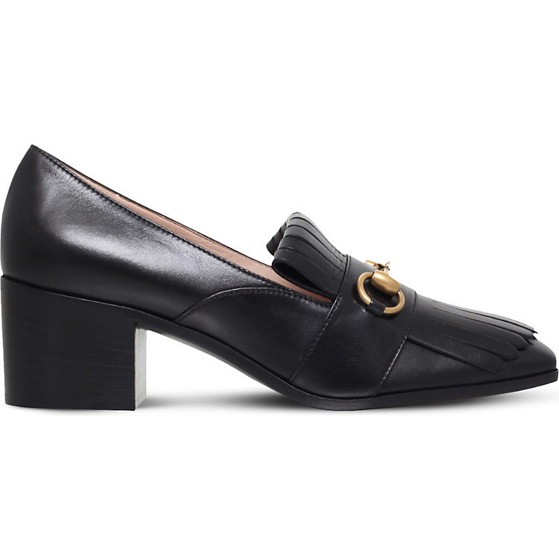 Polly Fringed Leather Loafers, Women's, Eur 38.5 / 5.5 Uk Women, Black - predominant colour: black; occasions: casual; material: leather; heel height: flat; toe: round toe; style: loafers; finish: plain; pattern: plain; embellishment: fringing; season: a/w 2016