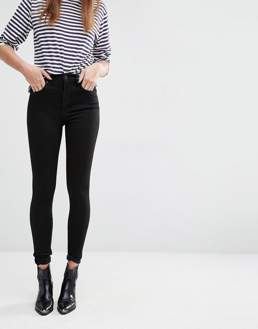 High Waist Super Skinny Jeans Black Cove - style: skinny leg; length: standard; pattern: plain; waist: high rise; pocket detail: traditional 5 pocket; predominant colour: black; occasions: casual; fibres: cotton - stretch; texture group: denim; pattern type: fabric; wardrobe: basic; season: a/w 2016