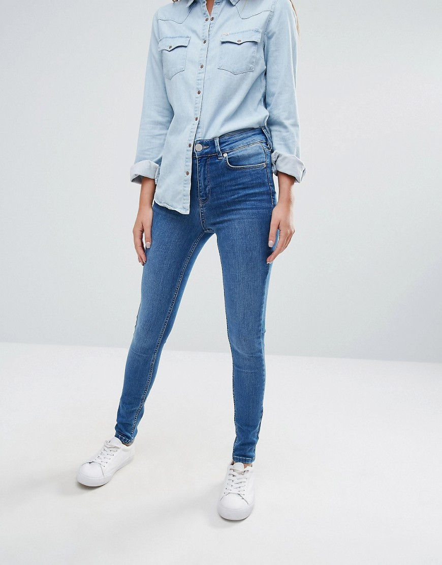 Skinny Ankle Grazer Rio - style: skinny leg; length: standard; pattern: plain; waist: mid/regular rise; predominant colour: denim; occasions: casual; fibres: cotton - stretch; texture group: denim; pattern type: fabric; season: a/w 2016