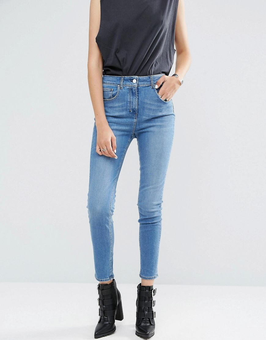 Evidence Skinny Jean Rusty Wash - style: skinny leg; pattern: plain; pocket detail: traditional 5 pocket; waist: mid/regular rise; predominant colour: denim; occasions: casual; length: ankle length; fibres: cotton - stretch; texture group: denim; pattern type: fabric; season: a/w 2016