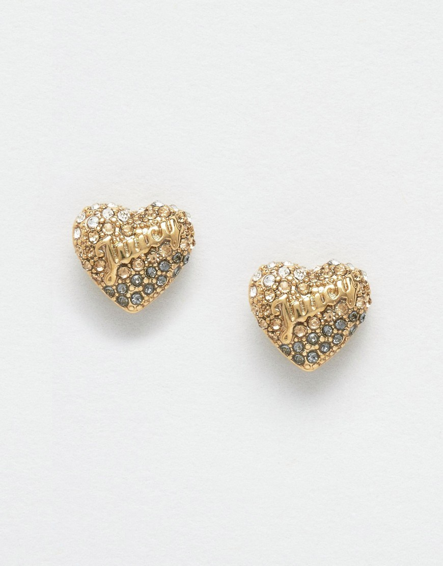 Champagne Ombre Heart Stud Earrings Champagne - predominant colour: gold; occasions: evening, occasion; style: stud; length: short; size: small/fine; material: chain/metal; fastening: pierced; finish: metallic; season: a/w 2016; wardrobe: event