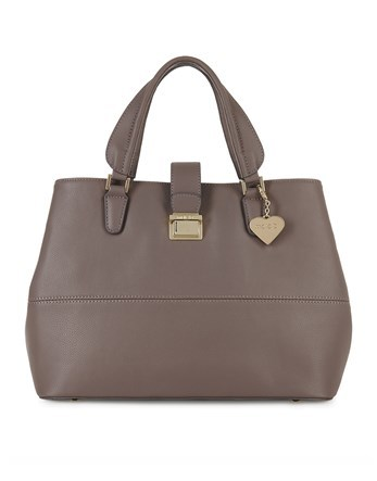 Oversized Tote Bag - predominant colour: taupe; occasions: casual; type of pattern: standard; style: tote; length: handle; size: standard; material: faux leather; pattern: plain; finish: plain; wardrobe: investment; season: a/w 2016