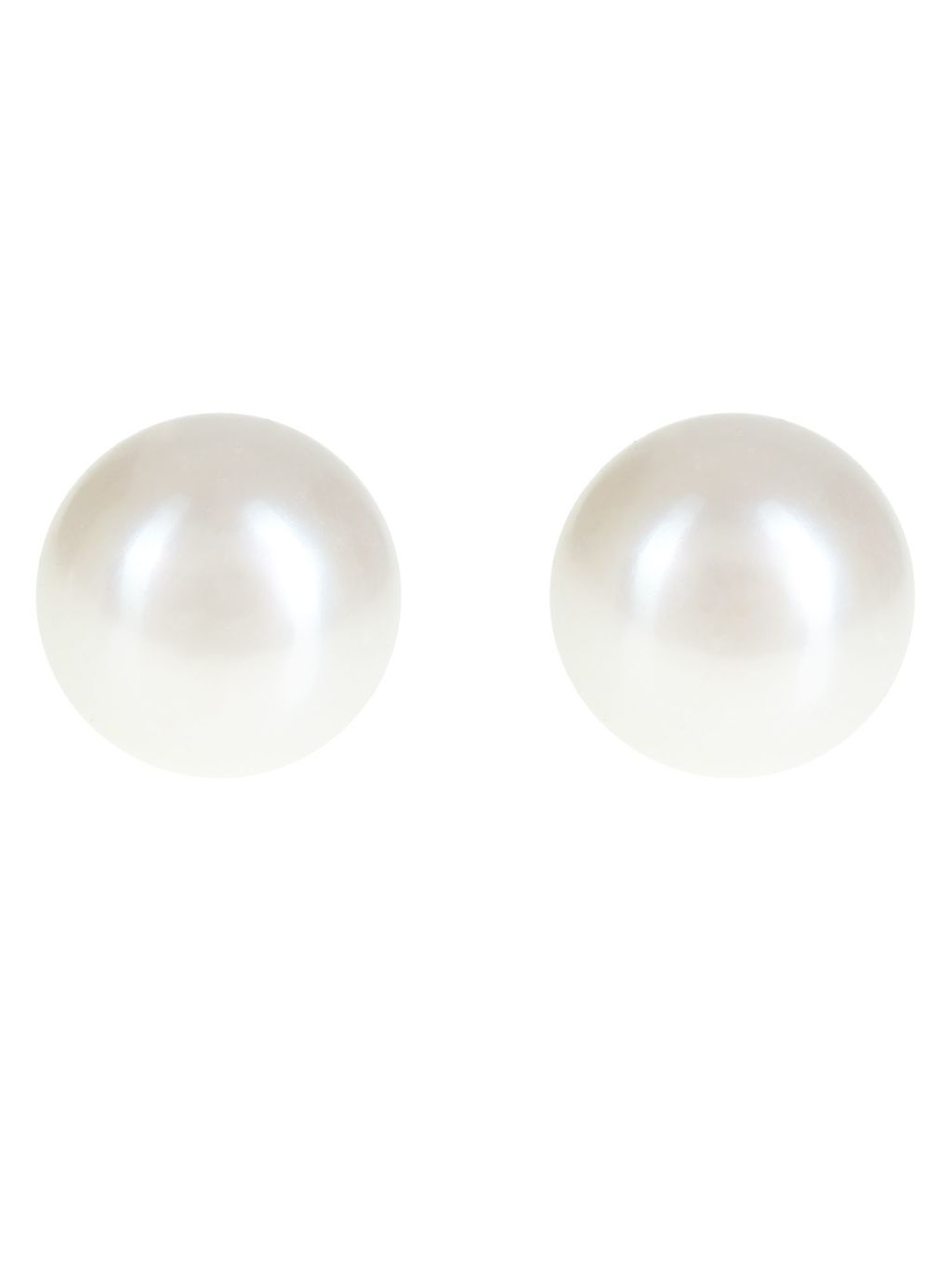 Large Pearl Stud Earrings, White - predominant colour: white; occasions: evening; style: stud; length: short; size: standard; material: plastic/rubber; fastening: pierced; finish: metallic; embellishment: sequins; season: a/w 2016; wardrobe: event