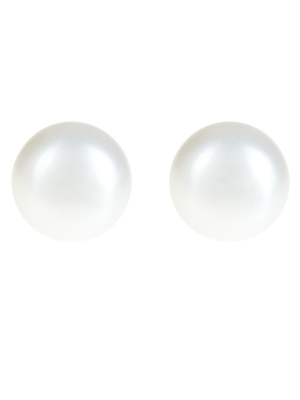 Pearl Stud Earrings, White - predominant colour: ivory/cream; occasions: evening; style: stud; length: short; size: small/fine; material: plastic/rubber; fastening: pierced; finish: metallic; embellishment: pearls; season: a/w 2016; wardrobe: event