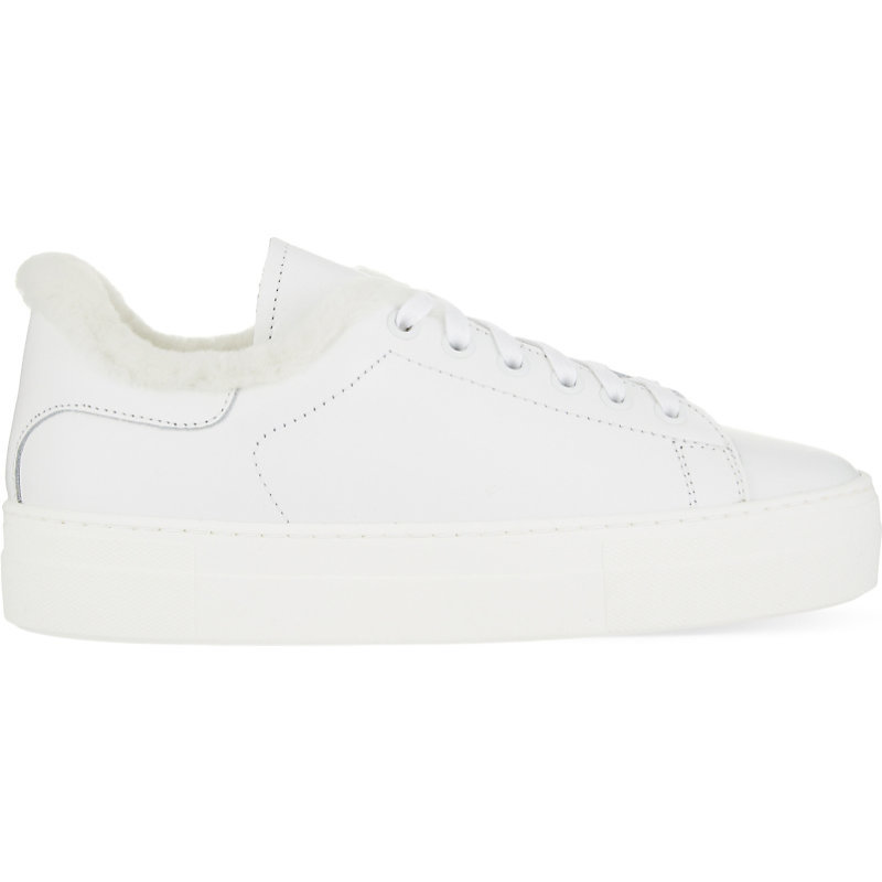 Finny Leather Trainers, Women's, Eur 38 / 5 Uk Women, White - predominant colour: white; occasions: casual; material: leather; heel height: flat; toe: round toe; style: trainers; finish: plain; pattern: plain; wardrobe: basic; season: a/w 2016