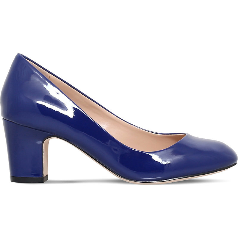 April Court Shoes, Women's, Eur 41 / 8 Uk Women, Blue - predominant colour: royal blue; occasions: evening; material: leather; heel height: high; heel: block; toe: round toe; style: courts; finish: patent; pattern: plain; season: a/w 2016; wardrobe: event