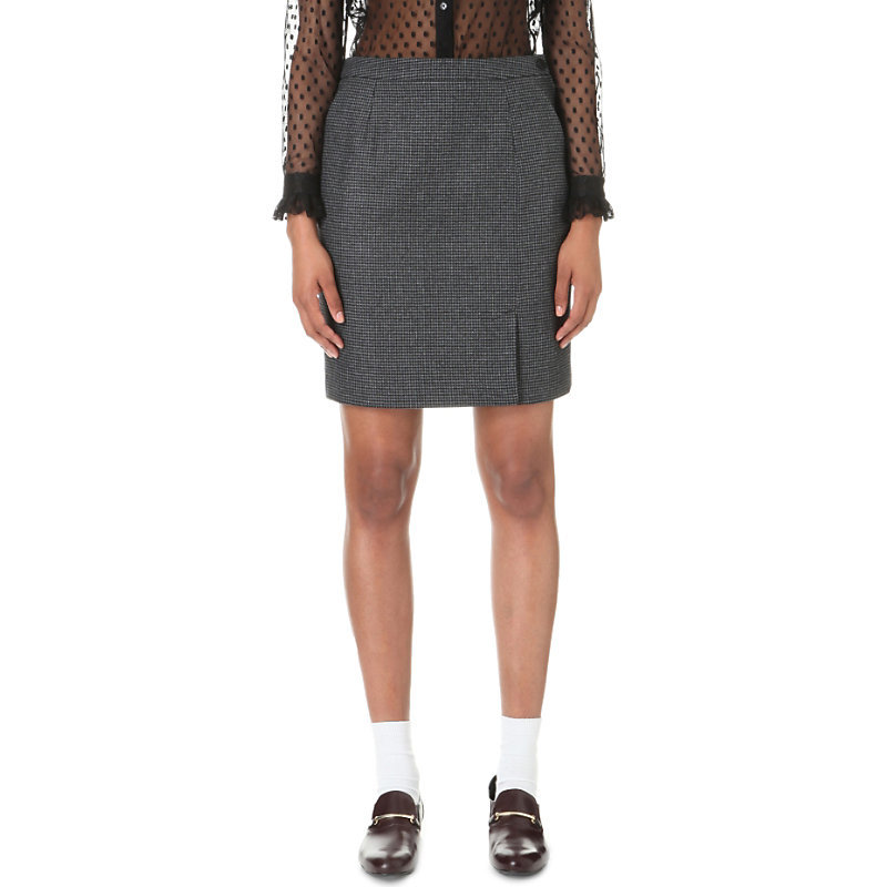Spirit Wool Blend Skirt, Women's, Gris Chine - pattern: plain; style: straight; fit: tailored/fitted; waist: mid/regular rise; predominant colour: charcoal; occasions: work; length: just above the knee; fibres: wool - mix; pattern type: fabric; texture group: woven light midweight; wardrobe: basic; season: a/w 2016