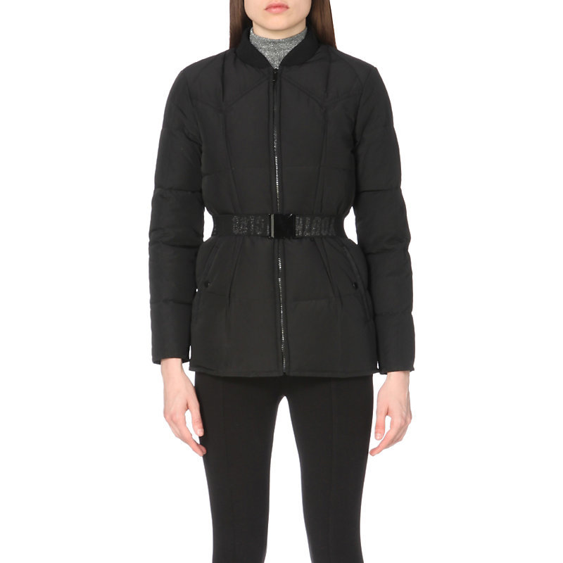 Gorgeous Shell Jacket, Women's, Noir - pattern: plain; length: below the bottom; collar: funnel; predominant colour: black; occasions: casual; fit: tailored/fitted; fibres: polyester/polyamide - 100%; sleeve length: long sleeve; sleeve style: standard; texture group: technical outdoor fabrics; collar break: high; pattern type: fabric; style: puffa; wardrobe: basic; season: a/w 2016