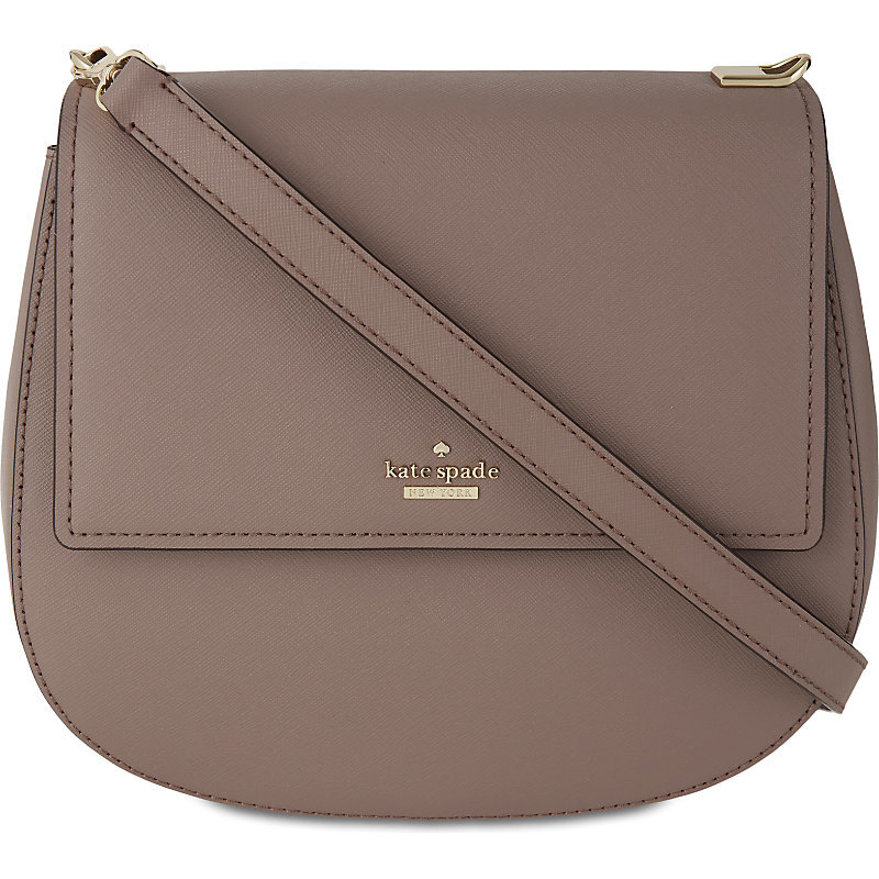 Cameron Street Leather Byrdie Shoulder Bag, Women's, Porchini - predominant colour: taupe; occasions: casual, creative work; type of pattern: standard; style: shoulder; length: shoulder (tucks under arm); size: standard; material: leather; pattern: plain; finish: plain; wardrobe: investment; season: a/w 2016