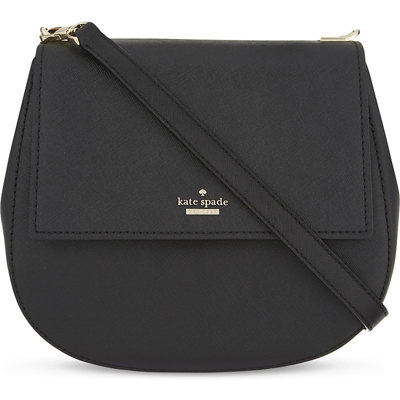 Cameron Street Leather Byrdie Shoulder Bag, Women's, Black - predominant colour: black; occasions: casual, creative work; type of pattern: standard; style: shoulder; length: shoulder (tucks under arm); size: standard; material: leather; pattern: plain; finish: plain; season: a/w 2016