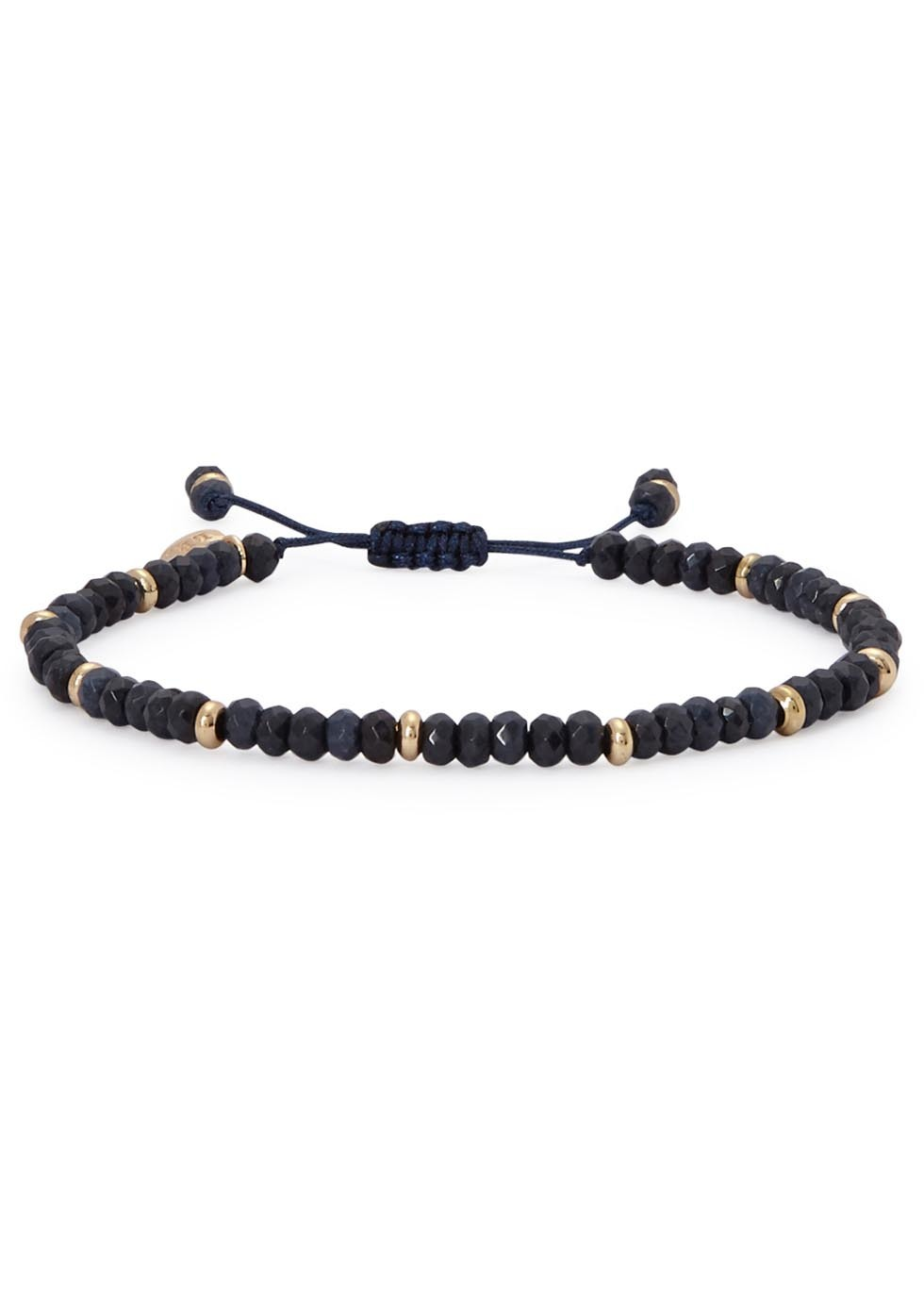 Northwood Midnight Blue Quartzite Beaded Bracelet - predominant colour: navy; size: standard; material: plastic/rubber; finish: plain; embellishment: beading; occasions: creative work; style: bead; season: a/w 2016; wardrobe: highlight